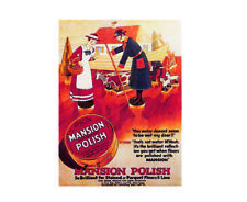 Mansion antiseptic polish so brilliant vintage style metal wall plaque sign