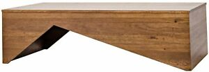 """64"""" L Coffee Cocktail Table Solid Dark Walnut Wood Contemporary Artisan Design"""