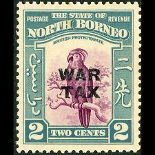 NORTH BORNEO 1941 2c Parrot. Bird. WAR TAX. SG 319. Mint Lightl Hinged. (AT364)