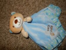 Garanimals Teddy Bear Beary Cute Velour Satin Security Lovey Crib Rattle Blanket