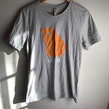 Uber Atlanta Transportation Taxi Service Gray Orange T-shirt Size M
