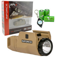 Inforce Aplc Compact Weapon Light - Tan with 3 Cr2 Batteries & Keychain Light