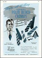 1938 Palm Beach Cravats ties Weisbaum Bro Cincinnati vintage art Print Ad  adL51