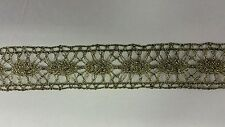Old looking ,metallic ribbon lace trim ,1inch  wide for lamp shade