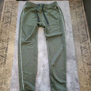 Hollister men's drawstring sweatpants size medium olive green elastic waist band