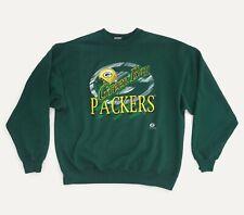 Vintage Green Bay Packers NFL 1996 Sweatshirt Jumper American Football Green XL