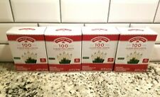 Holiday Time 100 4 Boxes Clear White Christmas Holiday Mini Lights String