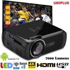7000Lumen LED Videoproiettore WIFI 1080P Android 6 Proiettore HDMI/USB/AV/VGA/SD