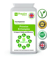 Vitamin B Complex 120 Capsules Support Vitality & Efficiency UK Made -Prowise