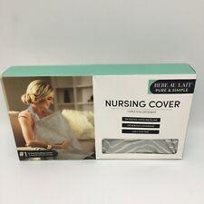 Bebe Au Lait Pure & Simple Nursing Breastfeeding Cover Gray Cotton 3CPCAP