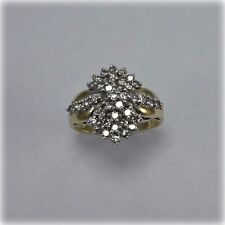 0.66 carat Diamond Cluster Ring in 10ct Gold