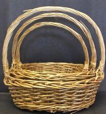 Luxurious silver/gold festive christmas gift hamper wicker picnic storage basket