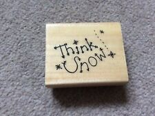 Wooden Backed Rubber Stamp from Anita's - Think Snow