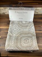 """Avondale*Manor Black Out Panels 2 Panels 54""""x84"""" Petra Taupe"""