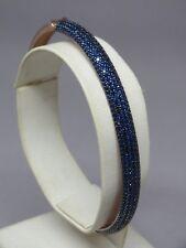 Turkish Handmade Jewelry 925 Sterling Silver Sapphire Stone Ladies' Bangle