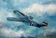 Dallas Doll P-51D Mustang 20x30 in.Acrylic on illustration board Hall Groat Sr.