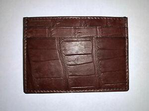 Gucci CROCODILE/ALLIGATOR Card Case/Wallet
