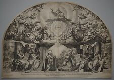 Die Verkündigung mit 6 Propheten -Rarer Kupferstich -Cort nach Zuccari -ca. 1670