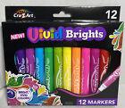 Crazy Art Vivid Brights 12 Markers New