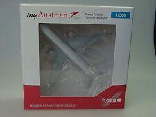 """Herpa Wings Boeing 777-200 Austrian """"Servus Hong Kong"""" - OE-LPD - 530132 - 1/500"""