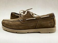 Timberland Men's Piper Cove Boat Shoes sample size 9 light brown leather