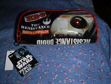 NWT Star Wars Pencil Case Astromech Droid BB-8 Courage Loyalty Hope Resistance