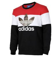 New Adidas Originals Sweatshirt Crew neck Black Block It Out camo hoodie AY8614