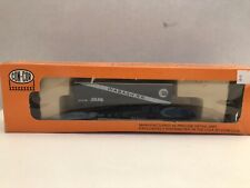 N scale Con-Cor Wabash Railway 50' flatcar and trailer.