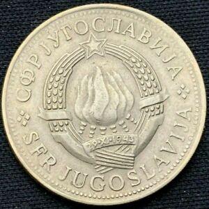 Yugoslavia 1975    5 Dinara AU    Copper Nickel Zinc Coin    #K654