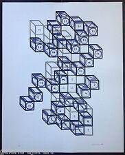 Friedrich GRÄSEL (1927) Grande Lithographie Originale de 1976 signée 72x58cm