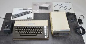 Atari 800 XL + Atari Disk Drive 1050 + Zub. TOP Zustand
