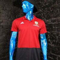 Wales Training Jersey 2017 Polo Red Adidas CF3701 Shirt Mens SIze L