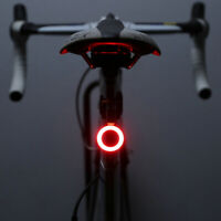 USB Rechargeable Bike Rear Tail Light LED Bicycle Safety Smart Lamp Warning safe