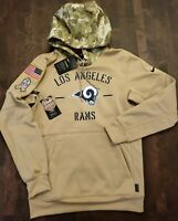 "Nike NFL Los Angeles Rams ""Salute To Service"" DriFit Pullover [Men's Small]"