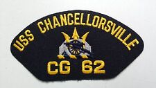 US Navy Machine Embroidered Patch: USS CHANCELLORSVILLE CG 62