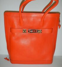PROENZA SCHOULER Tangerine Orange Leather PS11 Large Leather Tote Handbag NWT