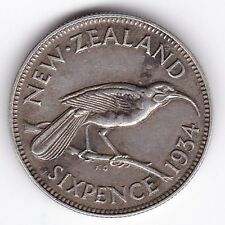 1934 New Zealand Sixpence***Collectors***Silver***