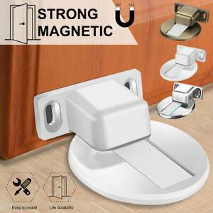 Security Magnetic Invisible Door Stop Floor Mount 3M Adhesive Catch Door Stoppe