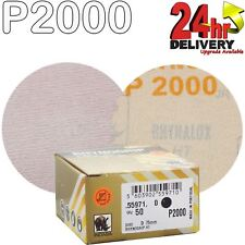 "Indasa Rhynogrip HT Line 75mm 3"" Sanding Discs P2000 Box of 50 Grip System"
