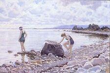 Baigneurs sur la rive par Paul Fischer artwork par Selby IMPRIME
