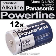 12x Mono D LR20 MN1300 Batterie PANASONIC POWERLINE INDUSTRIAL