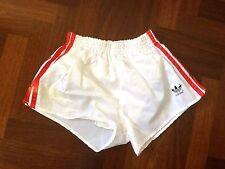 Adidas short shiny glanz nylon vintage 80 west germany white running sporthose