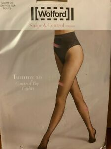 Wolford Tummy 20 Control Top Tights Shape & Control Tights  Caramel S