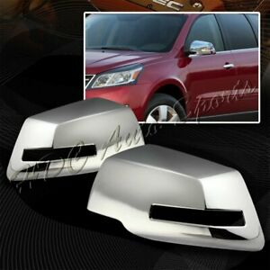 For 2009-2017 Chevy Traverse Chrome ABS Plastic Side Mirror Cover Cap LEFT+RIGHT