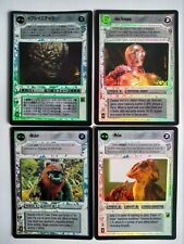 Star Wars ccg 4 M/NM Reflections II foil cards -> Wicket, Melas, See-Threepio