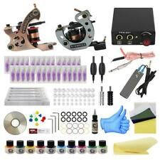 Complete Tattoo Kit Liner and Shader 30 needles 10 inks Dual Power Supply