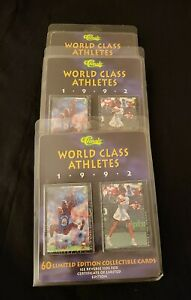 Vintage Classic World Class Athletes Limited Edition 60 Deck of Cards Set 1992