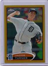 Jacob Turner 2012 Topps Chrome GOLD Refractor S#d 10/50 Tigers