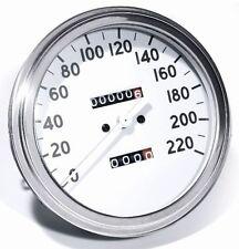 Tacómetro KM/H Blanco 2:1 para HD Harley-Davidson Sportster Softail -95