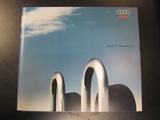 Brochure Audi TT Roadster 26-7-1999 + technische gegevens (Nederlands)